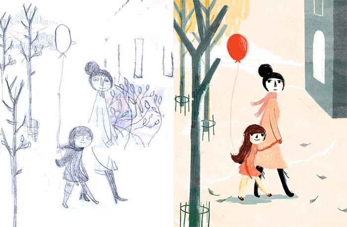 Sketch for Joya gaat op reis